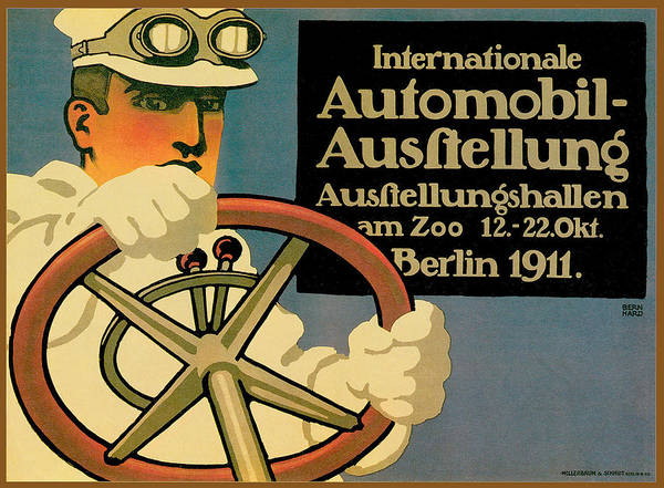 Photograph - Internationale Automobile Ausftellung by Vintage Automobile Ads and Posters