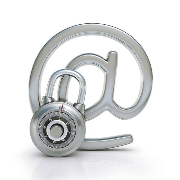 Padlock Photograph - Internet Security by Ktsdesign/science Photo Library