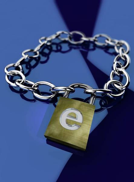 Padlock Photograph - Internet Security by Paul Wootton/science Photo Library