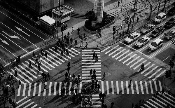 Pavement Wall Art - Photograph - Intersection ( Crossing Alternatives ) by C.s. Tjandra