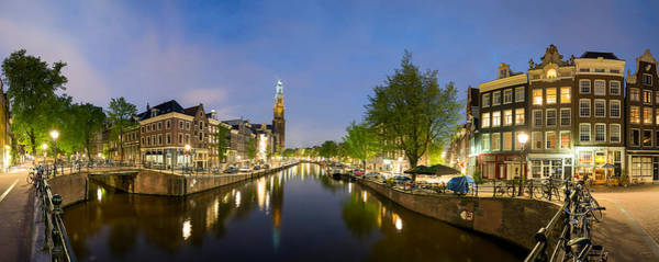 Prinsengracht Photograph - Intersection Of Prinsengracht by Panoramic Images