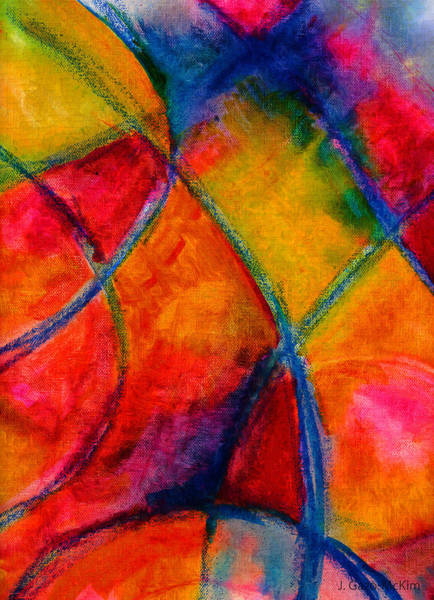 Open Space Mixed Media - Intersections 01 by Jo-Anne Gazo-McKim
