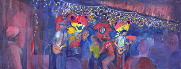 Painting - Interstate Stash Express At Oskar Blues In Lyons Co by David Sockrider