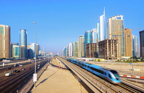 Passenger Car Photograph - Into Megacity Dubai by Juergen Sack
