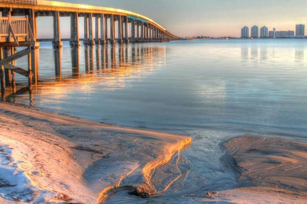 Dock Of The Bay Photograph - Into Santa Rosa Sound by JC Findley