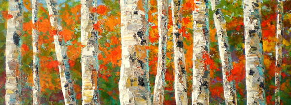 Wall Art - Painting - Into The Fall by Marilyn Hurst