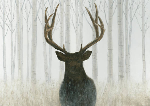 Black Buck Wall Art - Painting - Into The Forest by James Wiens