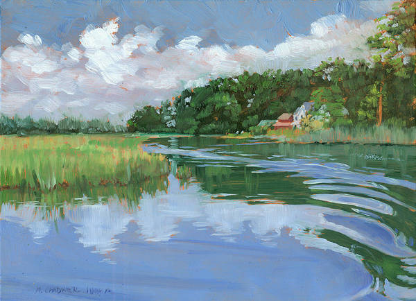 Marsh Grass Wall Art - Painting - Into The Marsh by Marguerite Chadwick-Juner