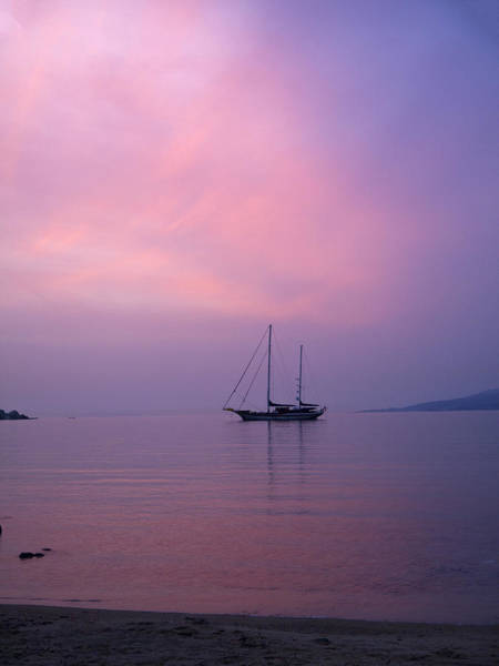 Photograph - Calm Sunset In Mykonos Greece by Brenda Kean