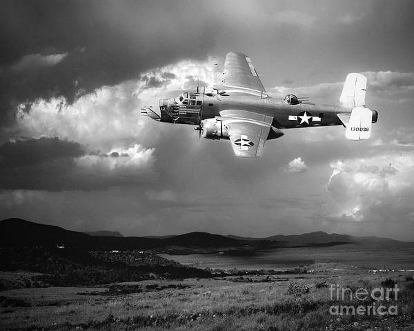 Bomber Photograph - Into The Storm by Arne Hansen