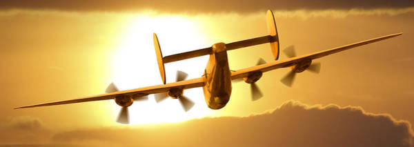B24 Photograph - Into The Sun 3 by Mike McGlothlen