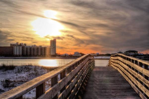 Photograph - Into The Sunset On Orange Beach by JC Findley