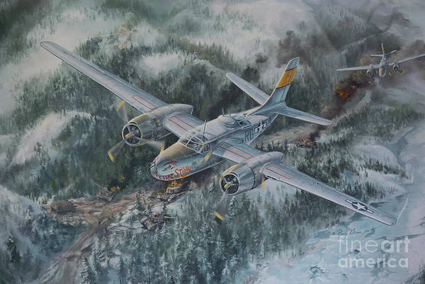 Helicopter Painting - Into The Valley Of Death by Randy Green
