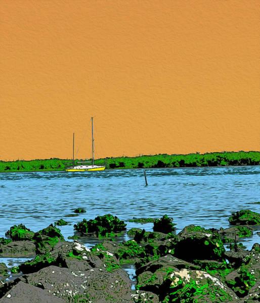 New Smyrna Beach Digital Art - Intracoastal by Jerry Hart