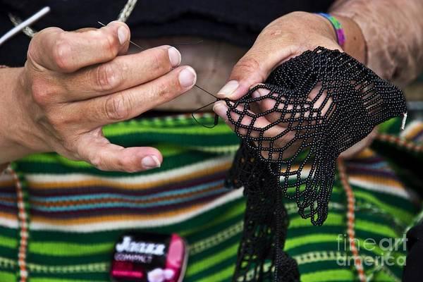 Beading Photograph - Intricate Beading In Loja by Al Bourassa