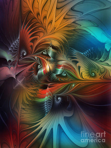 Translucent Digital Art - Intricate Life Paths-abstract Art by Karin Kuhlmann