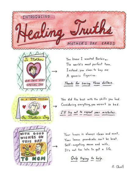 Healing Drawing - Introducing . . .healing Truths Mother's Day Cards by Roz Chast