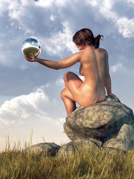Digital Art - Introspection by Daniel Eskridge