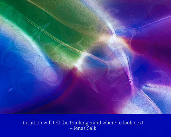 Painting - Intuition And The Thinking Mind by Omaste Witkowski
