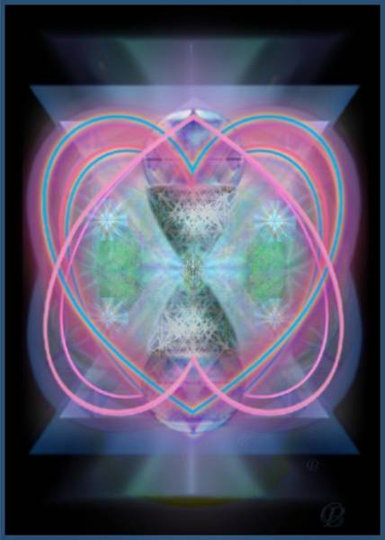 Digital Art - Intwined Hearts Chalice Enveloping Orbs Vortex Fired by Christopher Pringer