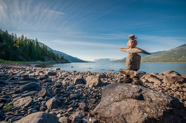 Nelson Bc Photograph - Inukshuk On Kootenay Lake by Tyler Lindal