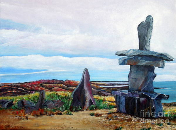 Painting - Inukshuk by Marilyn  McNish
