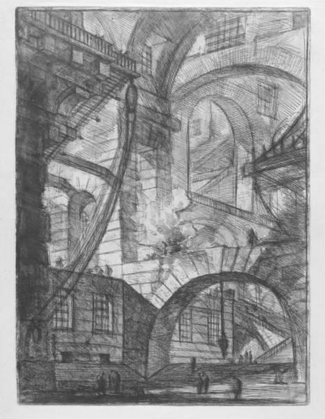 Digital Art - Invenzioni Capric Di Carceri All Acqua Forte by Giovanni Piranesi