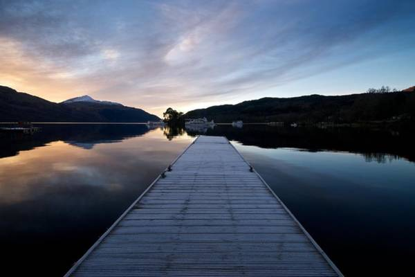 Photograph - Invergluss Jetty A Winters Morning by Stephen Taylor