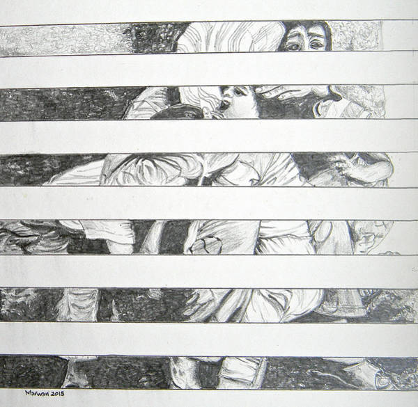 Drawing - Invisible Victims by Marwan George Khoury