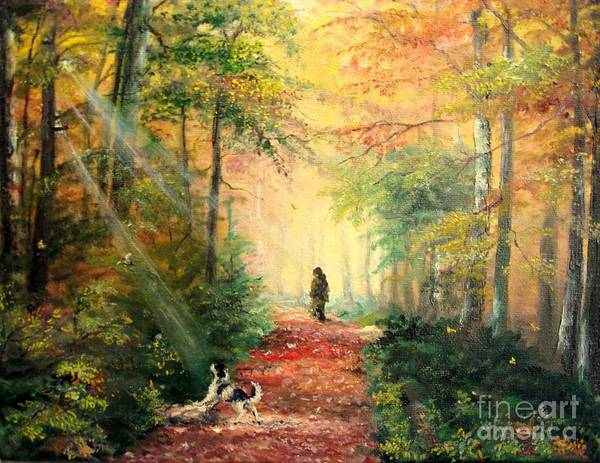 Painting - Invitation To Walk   by Sorin Apostolescu