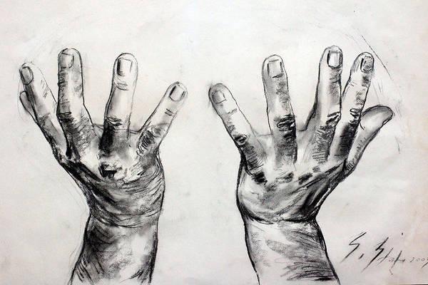 Drawing - Invocation by Sefedin Stafa