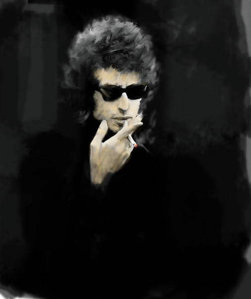 Painting - Inwardly Faded  Bob Dylan by Iconic Images Art Gallery David Pucciarelli