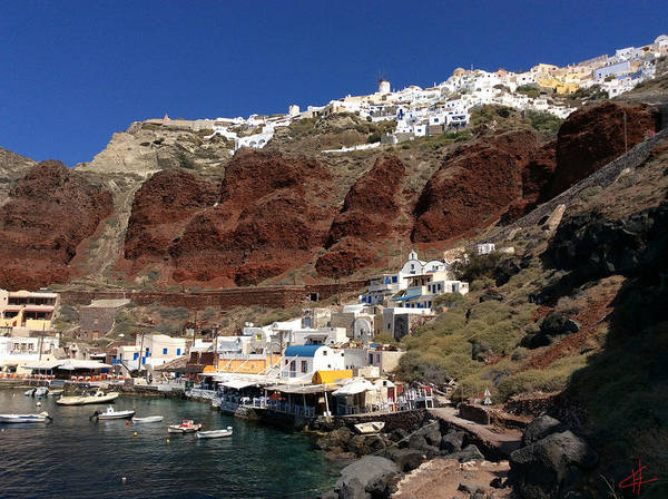 Photograph - Ioa  Port Santotini Island Greece by Colette V Hera  Guggenheim
