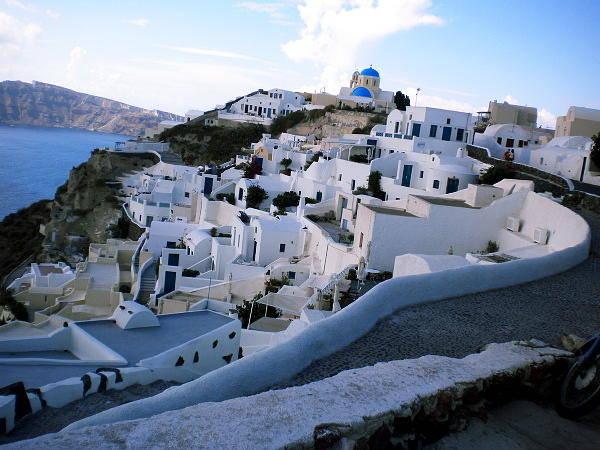 Photograph - Ioa Village  Santorini Island Greece by Colette V Hera  Guggenheim