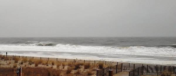 Photograph - Iola Storms The Beach by Robert Banach