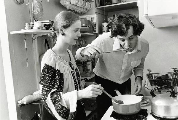 Manhattan Photograph - Ion And Francoise Filotti Cooking by Susan Wood