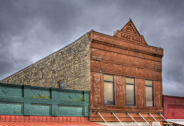 Fraternal Organizations Photograph - Ioof Hall by David and Carol Kelly