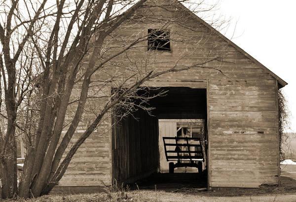 Digital Art - Iowa Hay Wagon In Barn by Kirt Tisdale