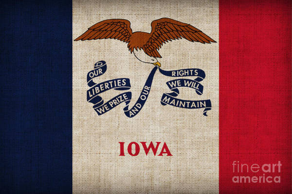 1776 Painting - Iowa State Flag by Pixel Chimp