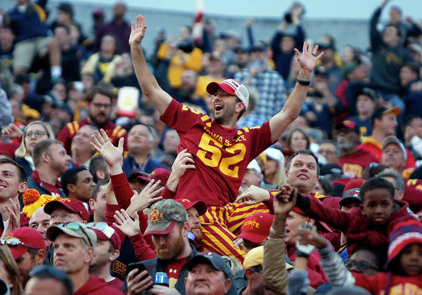 Usa State Photograph - Iowa State V West Virginia by Justin K. Aller
