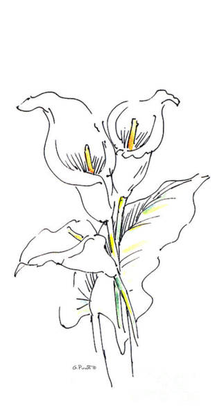 Drawing - iPhone-Case-Lily-Painting2 by Gordon Punt