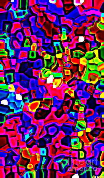 Painting - Iphone Cases Colorful Intricate Geometric Covers Cell And Mobile Phone Art Carole Spandau Cbs 161 by Carole Spandau