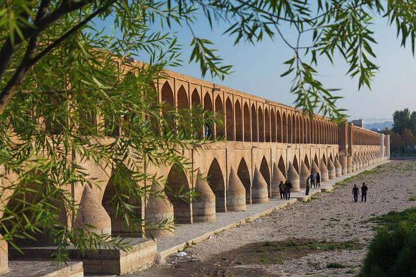 Central Asia Photograph - Iran, Esfahan, Si-o-seh Bridge by Walter Bibikow
