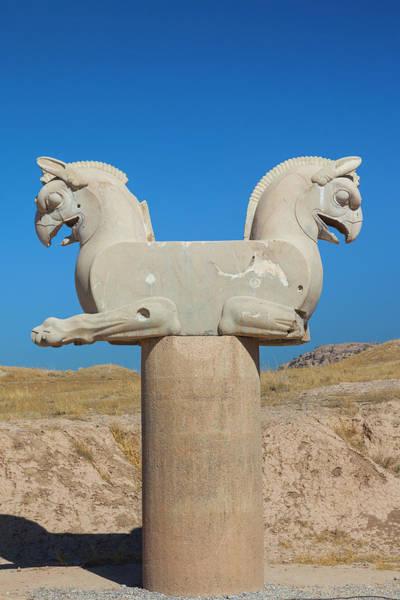 Wall Art - Photograph - Iran, Persepolis, Griffon Monument by Walter Bibikow