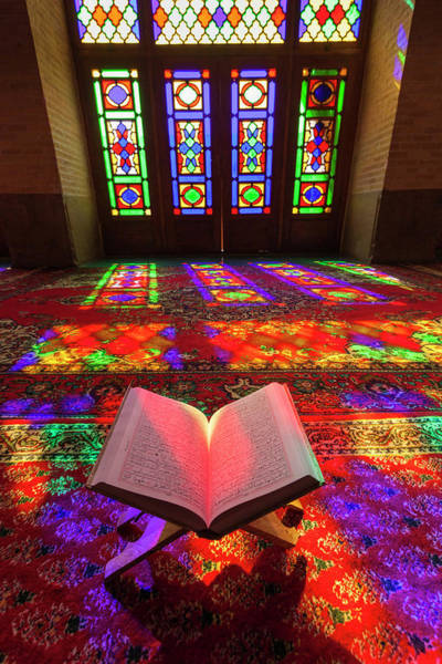 Holy City Photograph - Iran, Shiraz, Nasir-al Molk Mosque by Walter Bibikow