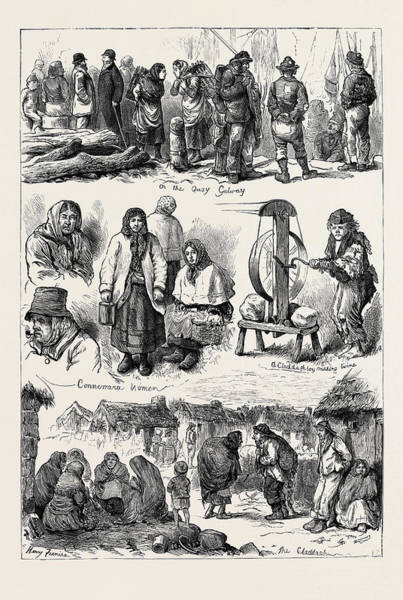 1880 Drawing - Ireland At Galway 1880 by Irish School