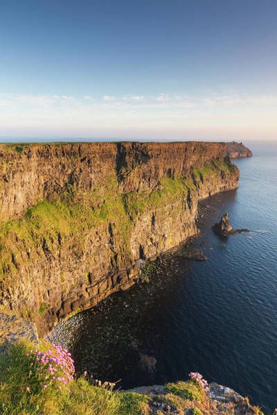 Moher Photograph - Ireland, County Clare, Cliffs Of Moher by Walter Bibikow