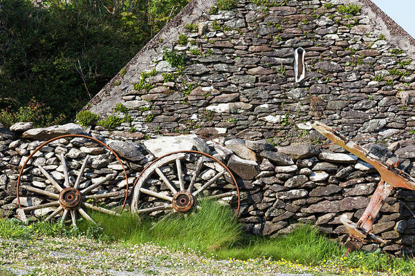 Dingle Peninsula Photograph - Ireland, County Kerry Cottage Detail by Walter Bibikow