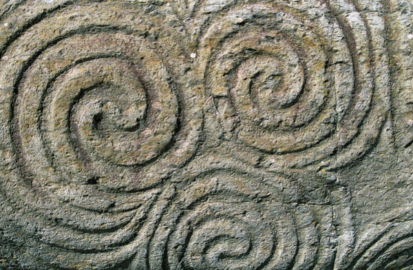Carving Photograph - Ireland, County Meath, Newgrange by Jaynes Gallery