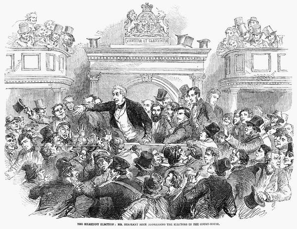 Courthouse Painting - Ireland Election, 1857 by Granger